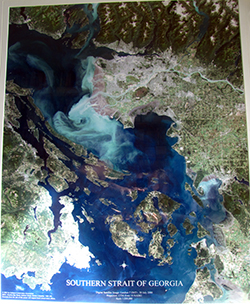Satellite image poster Galiano