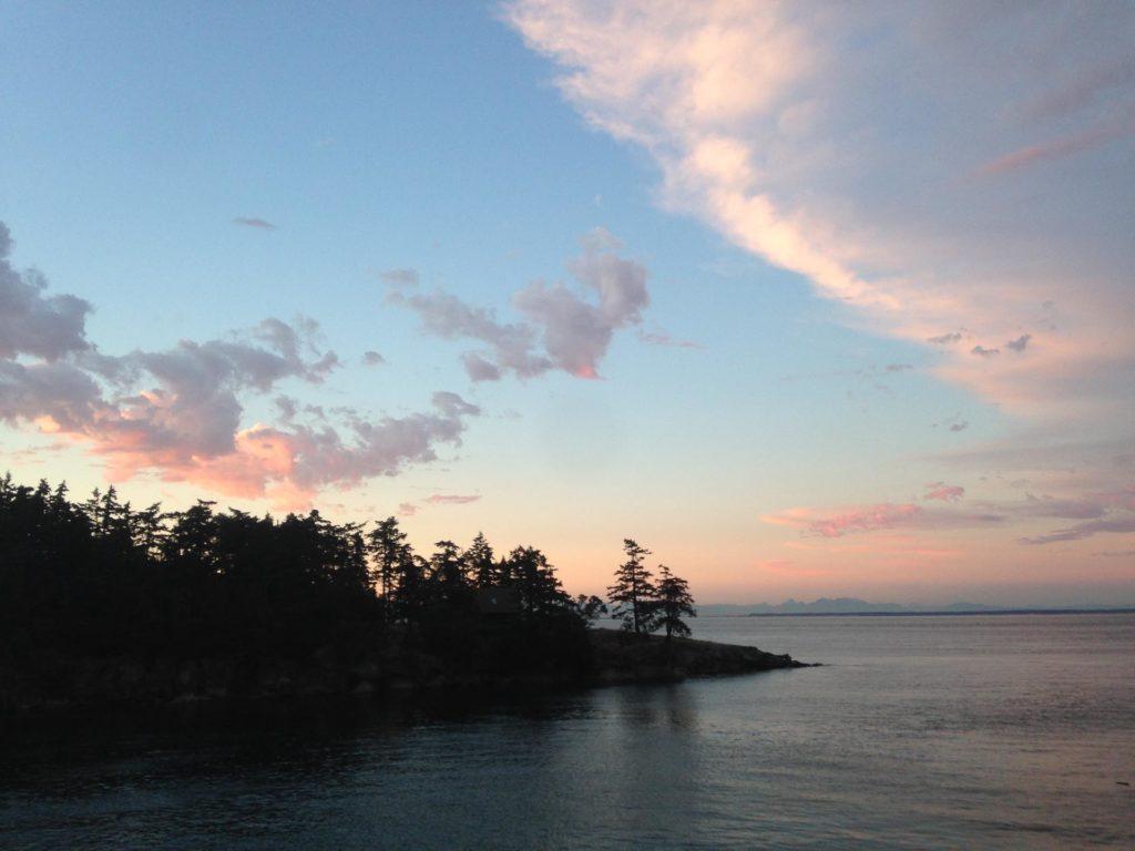 galiano island sunset