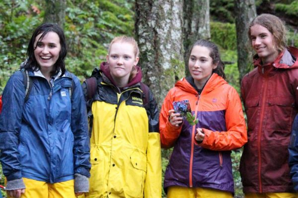 Students ready for work, Forest Restoration School