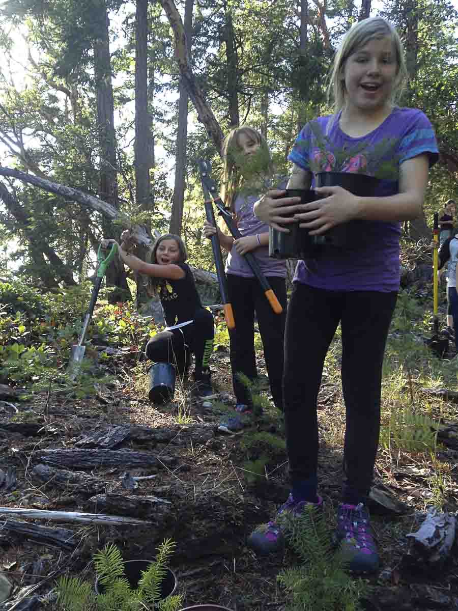 kids restoring forests